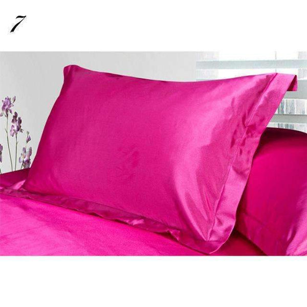 PinKart-USA Online Shopping as 6 1Pc Pure Emulation Silk Satin Pillowcase Single Pillow Cover Multicolor 48*74Cm