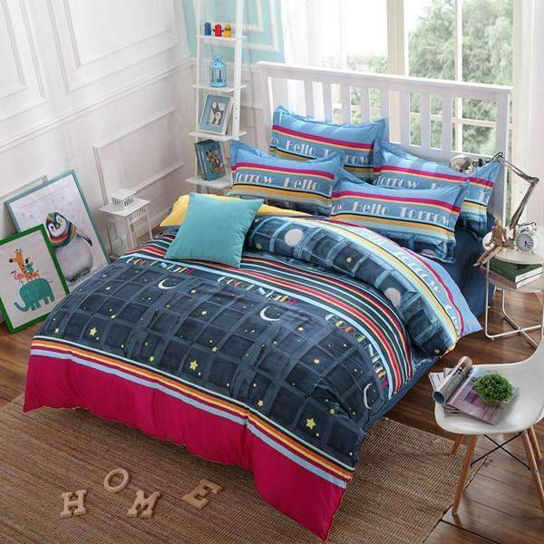 PinKart-USA Online Shopping AS / Full Classic Active Bedding Set /Comforter Set/ Duvet Cover Set/ Bed Sheet