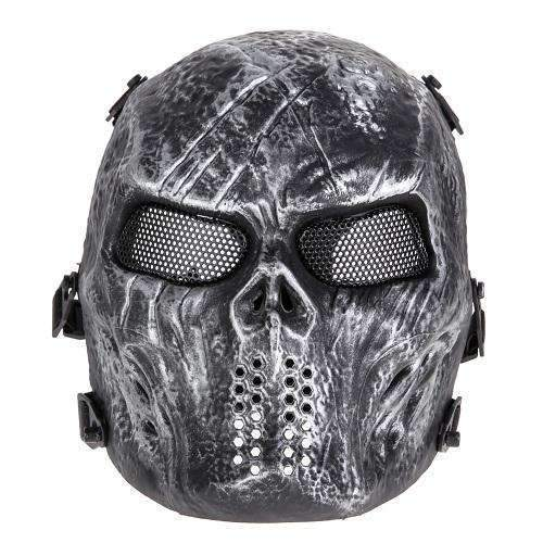 PinKart-USA Online Shopping As Picture 1 Airsoft Paintball Mask Skull Full Face Mask Army Games Outdoor Metal Mesh Eye Shield Costume For