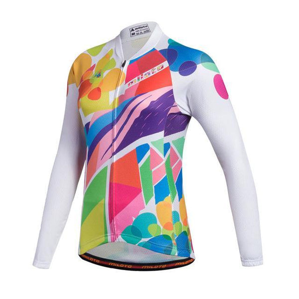 PINkart-USA Online Shopping As Picture 1 / L Miloto Team Long Sleeve Cycling Jersey Women Autumn Reflective Cycling Clothing Mtb Road Bicycle
