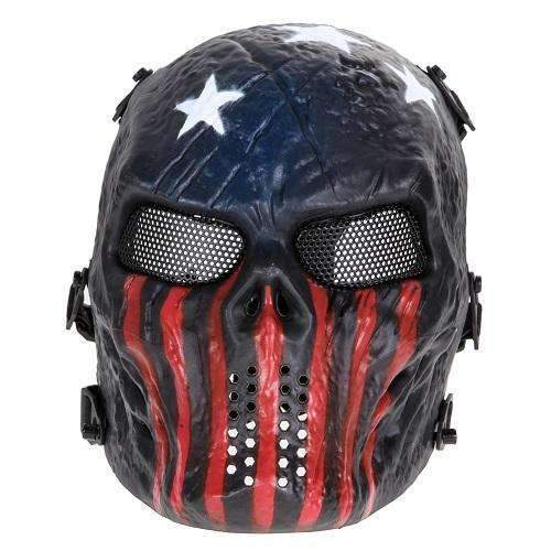 PinKart-USA Online Shopping As Picture 2 Airsoft Paintball Mask Skull Full Face Mask Army Games Outdoor Metal Mesh Eye Shield Costume For