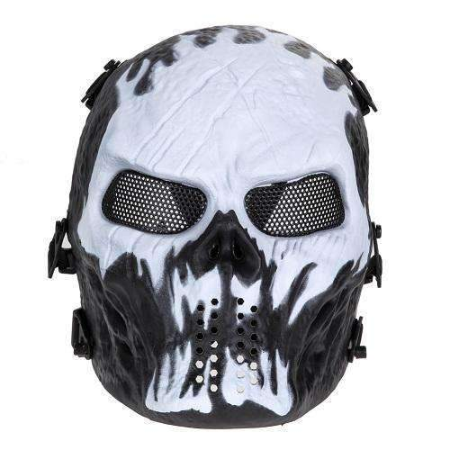 PinKart-USA Online Shopping As Picture 4 Airsoft Paintball Mask Skull Full Face Mask Army Games Outdoor Metal Mesh Eye Shield Costume For