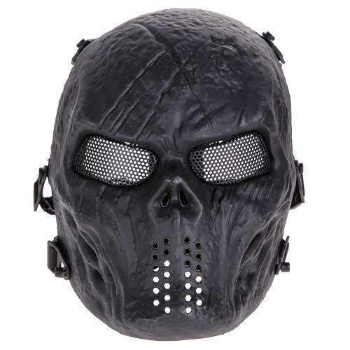 PinKart-USA Online Shopping As Picture Airsoft Paintball Mask Skull Full Face Mask Army Games Outdoor Metal Mesh Eye Shield Costume For