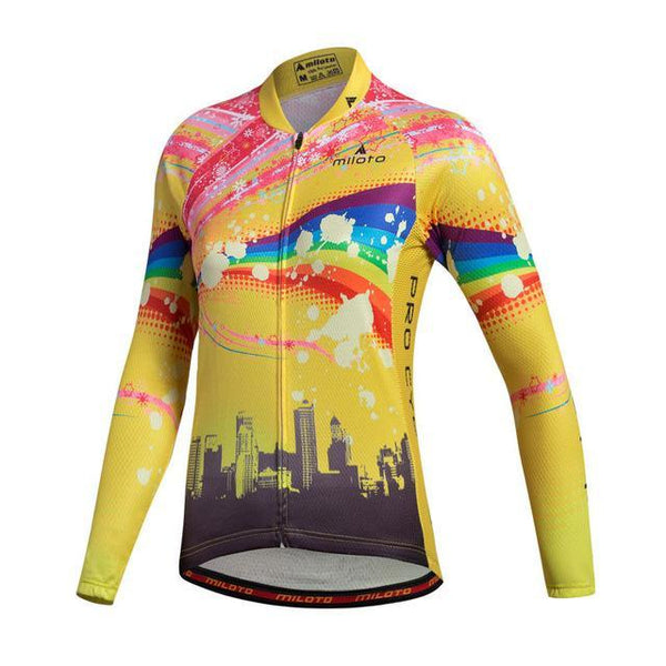 PINkart-USA Online Shopping As Picture / L Miloto Team Long Sleeve Cycling Jersey Women Autumn Reflective Cycling Clothing Mtb Road Bicycle