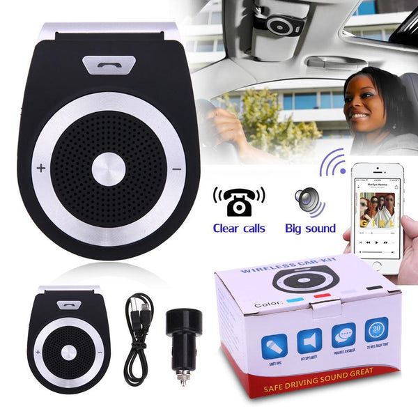 PINkart-USA Online Shopping Auto Car Bluetooth Handsfree Kit Phones Audio Receiver Calls Voice Speaker Car Aux Home Audio