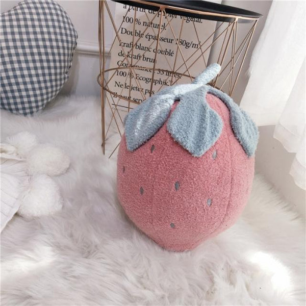 PINkart-USA Online Shopping B 30x40cm Cute Plush Cushion For Child Creative Embroidery Toy Pineapple Strawberry Cactus Shape Cushions
