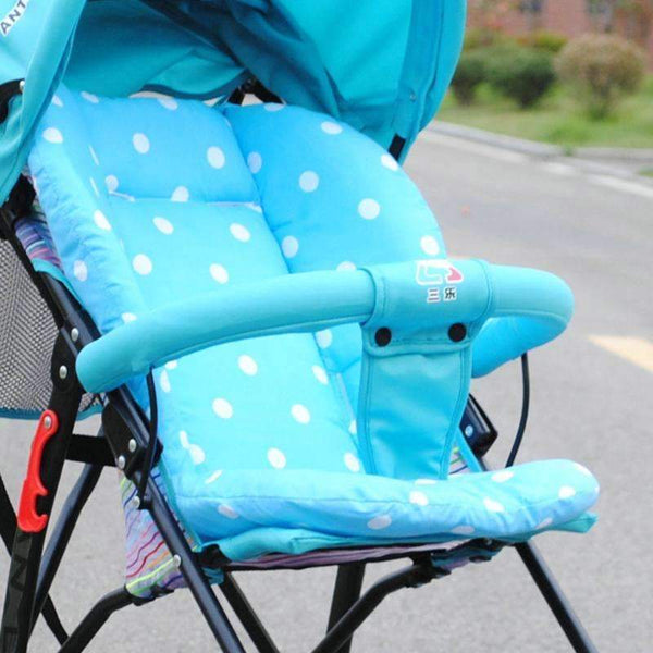 PinKart-USA Online Shopping Baby Infant Stroller Seat Pushchair Pram Cushion Cotton Mat With White Dot, Skin-Friendly Thick