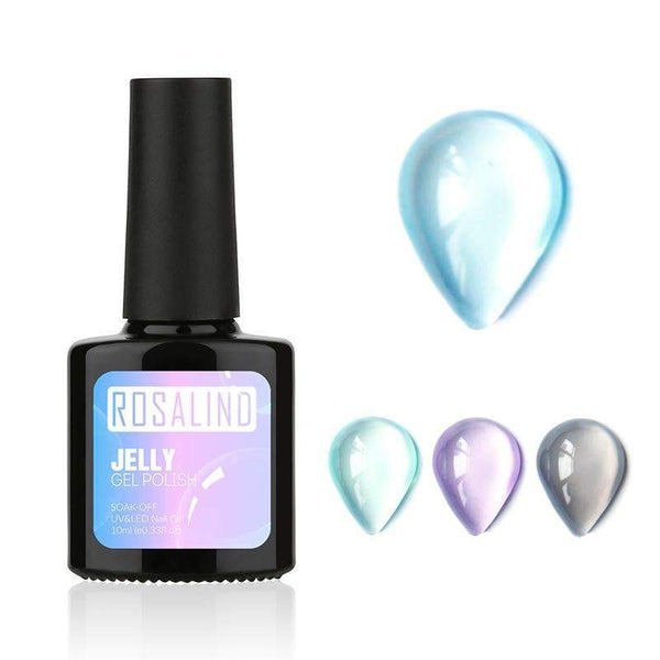 PinKart-USA Online Shopping BASE 10Ml Opal Jelly Gel Soak Off Nail Polish Manicure Nail Art Uv Gel Polish Semi Vernis