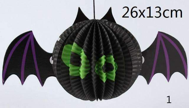 PinKart-USA Online Shopping Bat 1 Pc Tissue Paper Lantern Ball Hanging Ghost Props Festival For Kids Babyshower Halloween Decoratio