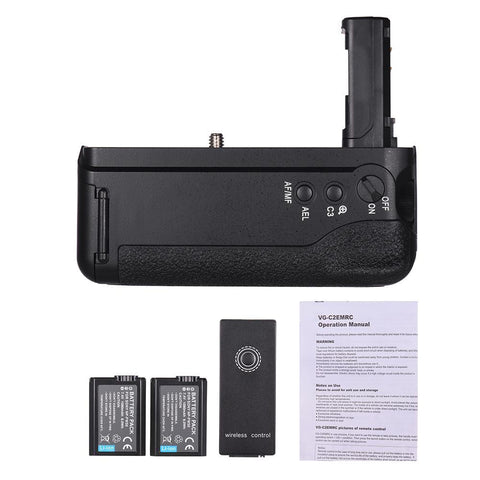 PINkart-USA Online Shopping Battery Grip With Np-Fw50 Battery 2.4G Wireless Remote Control Replace Camera Grip For Sony