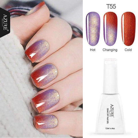 PinKart-USA Online Shopping Beauty 12Ml/Pcs Temperature Changing Glitter Color Gel Polish Shiny Color Nail Gel For Nail
