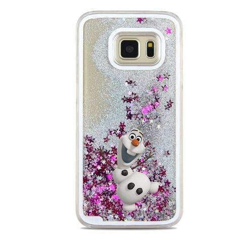 PinKart-USA Online Shopping Beige For Samsung Galaxy S7 Case Cute Stitch Mickey Shining Liquid Quicksand Mobile Phone Case Cover
