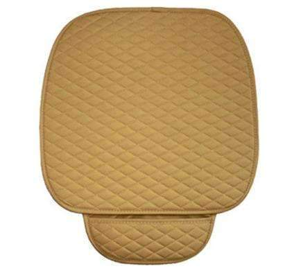 PinKart-USA Online Shopping beige front 1 pc Gspscn Pu Leather Car Seat Covers Cushion Four Seasons General Car Seat Cushions Car Front