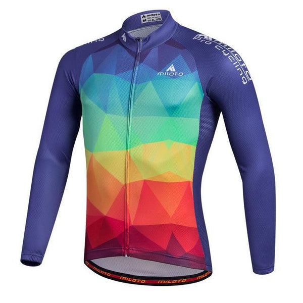 PINkart-USA Online Shopping Beige / L Breathable Pro Racing Cycling Jersey Roupa De Ciclismo Winter Long Sleeve Bicycle Cycling