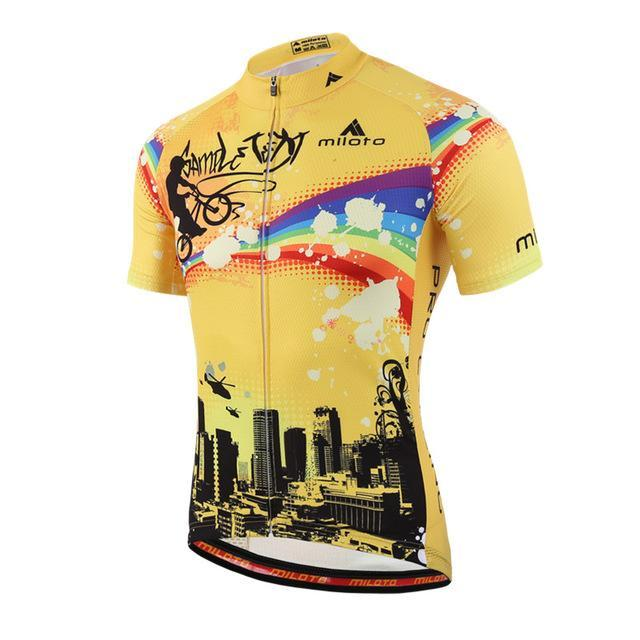 PINkart-USA Online Shopping Beige / L Cycling Jersey Tops Ropa Ciclismo Breathable Racing Cycling Clothing Maillot Ciclismo Pro
