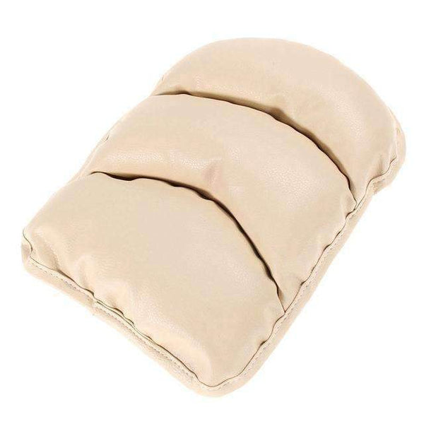 PinKart-USA Online Shopping Beige Universal Car Seat Cover Soft Leather Auto Center Armrest Console Box Armrest Seat Protective Pad
