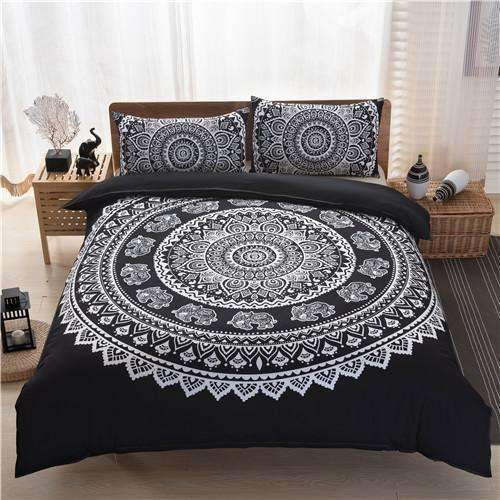 PinKart-USA Online Shopping bhblack / Duvet Cover 200x230 Bohemian Bedding Sets Mandala Printing Black White Boho Single Double Queen King Size Duvet Cover
