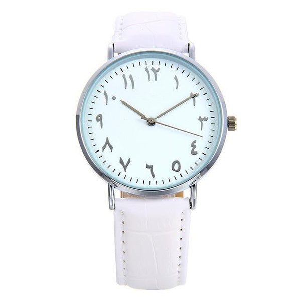 PINkart-USA Online Shopping Big white / China Fashion Arabic Numbers Design Women Watches Bgg Top Luxury Brand Leather Female Watch Lover Clock