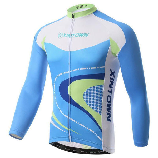 PINkart-USA Online Shopping Bike Team Mens Cycling Jersey Long Sleeve Bicycle Cycling Clothing Warm Mtb Bike Jersey Wear Ropa