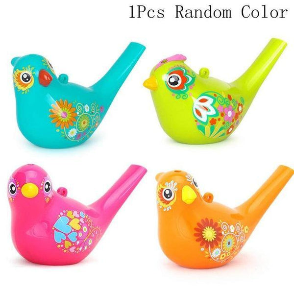 PINkart-USA Online Shopping bird 5Pcs/1 Row Water Flute Toy Kids Children Colorful Water Flutes Bath Tub Tunes Toys Fun Music