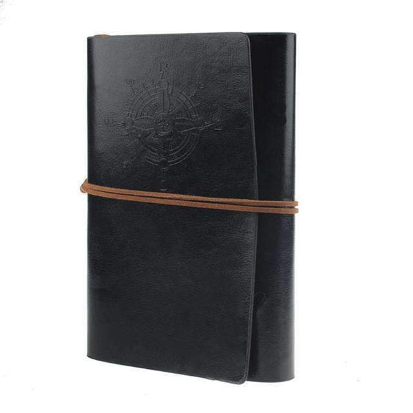 PinKart-USA Online Shopping Black / B6 150x100mm Mc 2014 Spiral Notebook Est Diary Book Vintage Pirate Anchors Pu Leather Note Book Replaceable