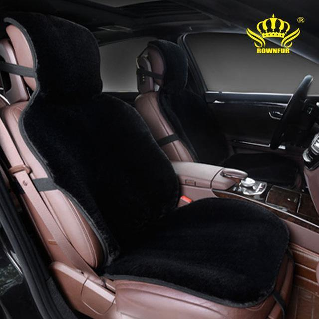 PinKart-USA Online Shopping Black / China For 2 Front Car Seat Covers Faux Fur Cute Car Interior Accessories Cushion Cover Styling