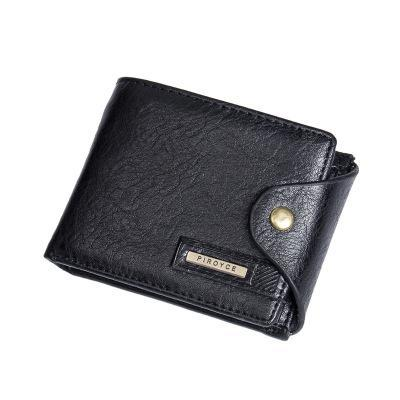 PINkart-USA Online Shopping Black Genuine Leather Brand Men Wallets Design Short Small Wallets Male Mens Purses Card Holder