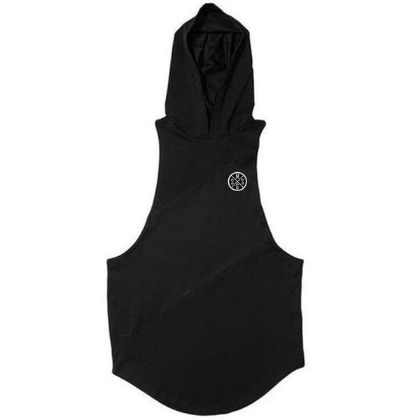 PINkart-USA Online Shopping black hooded / L Bodybuilding Stringer Tank Top With Hooded Mens Gyms Clothing Fitness Mens Sleeveless Vests Cotton