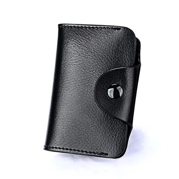 PINkart-USA Online Shopping Black Hot Men Wallets Genuine Leather 15 Card Holder Wallet Male Clutch Pillow Designer Small Wallet
