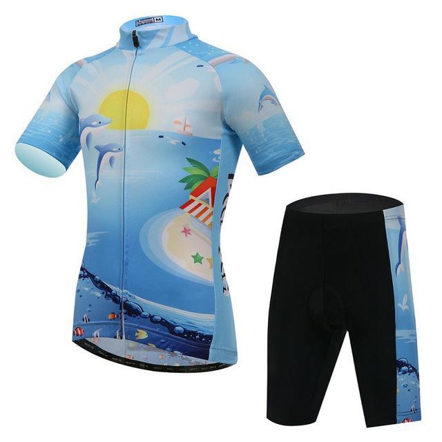 PINkart-USA Online Shopping Black / L Children Short Sleeve Cycling Clothing Ropa Ciclismo Summer Cycling Bike Jersey Sets Breathable