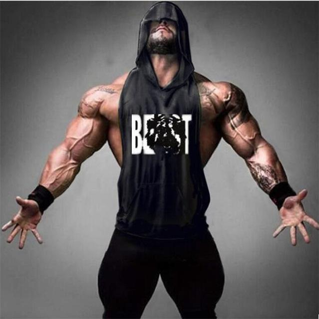 ad5ad0bbbe9671 PINkart-USA Online Shopping Black   M Gyms Clothing Bodybuilding Stringer  Hoodie Tank Top Muscle