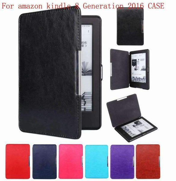 PinKart-USA Online Shopping black Magnet Clasp Flip Leather Case Cover For Kindle 8Th Generation Fundas For Amazon Kindle 8