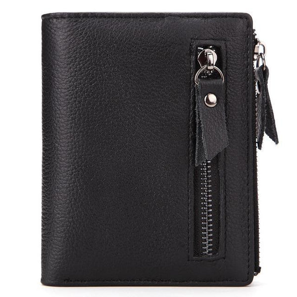 PINkart-USA Online Shopping Black Promotion Genuine Leather Men'S Wallet Vintage Style Wallets For Men Oil Wax Leather Cash