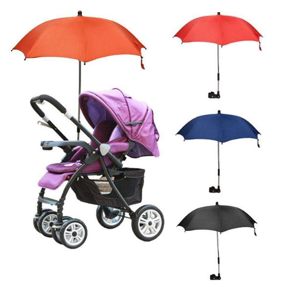 PinKart-USA Online Shopping Black Protable Baby Stroller Accessories Umbrella Colorful Kids Children Pram Shade Parasol Solid Color