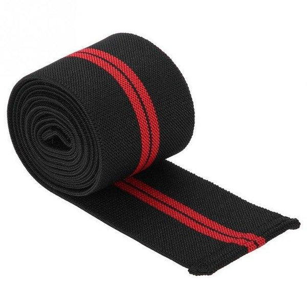 PINkart-USA Online Shopping Black Red 1Pc Adjustable Knee Strap Guard High Elasticity Wrist Knee Thigh Support Brace Strap