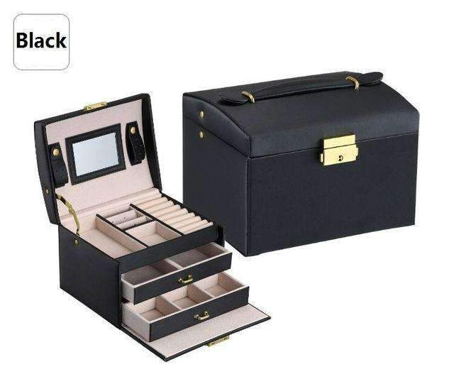 PinKart-USA Online Shopping Black / Russian Federation Jewelry Packaging Box Casket Box For Jewelry Exquisite Makeup Case Jewelry Organizer Container Boxe