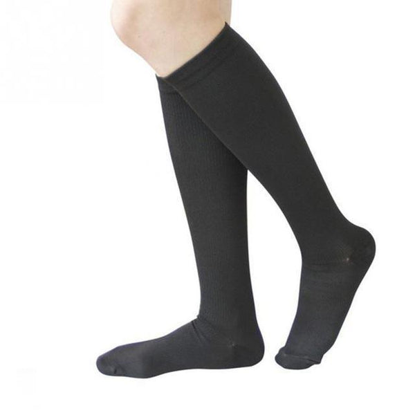PINkart-USA Online Shopping Black / S Hot Unisex Compression Stockings Pressure Nylon Varicose Vein Stocking Knee High Leg Support