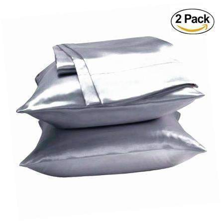 PinKart-USA Online Shopping Black Sale 2Pc Queen/Standard Silk~Y Satin Pillow Case Multiple Colors
