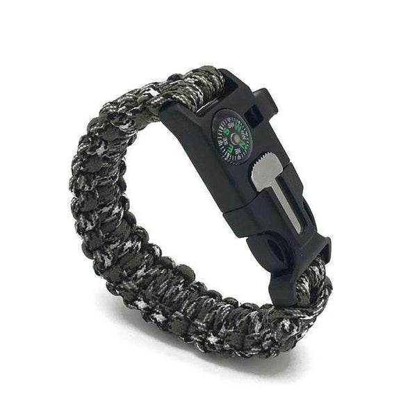 PinKart-USA Online Shopping Black white camo Paracord Survival Bracelet
