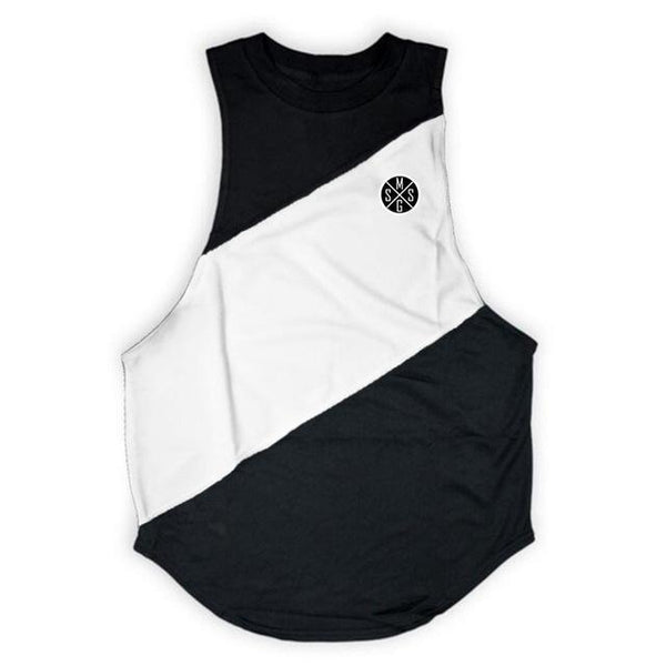 PINkart-USA Online Shopping black white vest / L Bodybuilding Stringer Tank Top With Hooded Mens Gyms Clothing Fitness Mens Sleeveless Vests Cotton
