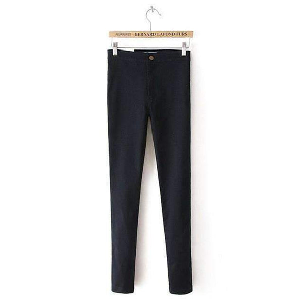 PinKart-USA Online Shopping Black / XS / China White Jeans Female Elastic Jeans