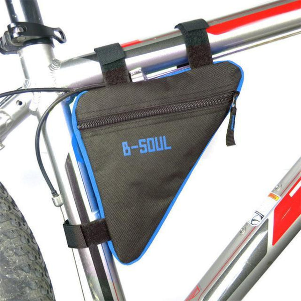 PINkart-USA Online Shopping Blue B-Soul Triangle Cycling Bike Bicycle Front Tube Bag Frame Pouch Bag Holder Saddle 4 Colors