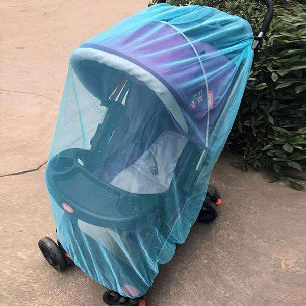 PinKart-USA Online Shopping Blue Baby Stroller Pushchair Mosquito Insect Shield Net Safe Infants Protection Mesh Stroller Accessorie