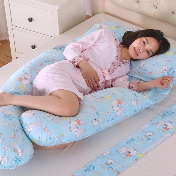 185*140*85Cm Body Pillows Sleeping Pregnancy Pillow Belly Contoured Maternity U Shaped Removable