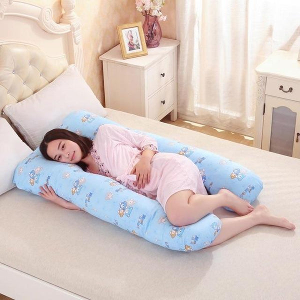 PINkart-USA Online Shopping Blue bear Pregnancy Pillows U Shape Maternity Maternity Belt Body Character Pregnant Pillow Cartoon Pregnant