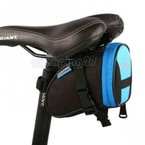 PINkart-USA Online Shopping Blue Black Cycling Bike Bicycle Rear Seat Saddle 1L Tail 600D Bag Quick Release 8 Colors Available Free