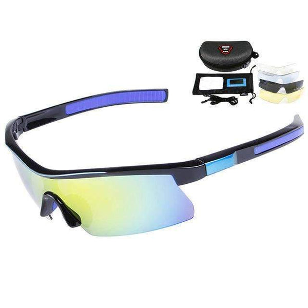 PinKart-USA Online Shopping Blue Black Polarized Cycling Glasses Uv400 Bicycle Sunglasses Bike Glasses Tr90 Goggles Eyewear 5 Lens Oculos