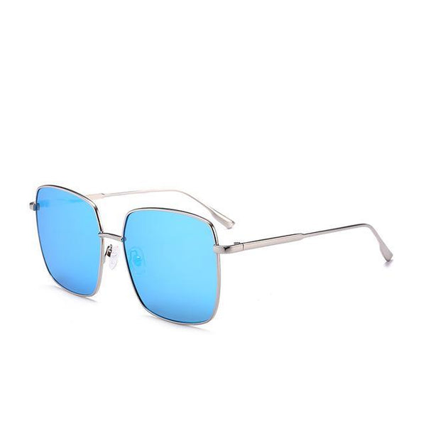 PINkart-USA Online Shopping Blue Brand Designer Celebrity Metal Men Oversized Sunglasses Fashion Luxury Square Sunglasses Women