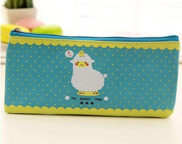 PinKart-USA Online Shopping Blue Cactus Pencil Case Canvas School Supplies Kawaii Stationery Estuches Chancery School Cute Kalem