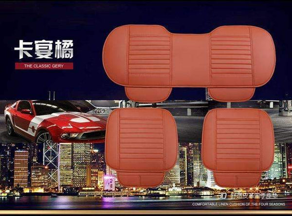 PinKart-USA Online Shopping Blue Car Seat Cushion Car Seat Cover For All Sedan Leather Car Seat Single Four Seasons General Seat